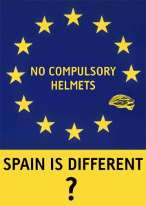 Spain is different - no compulsory helmet