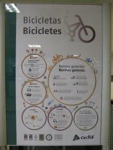Normas generales (bici + tren)