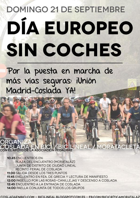 Cartel Marcha Ciclista Domingo 21 de septiembre 2014 MADRID-COSLADA YA