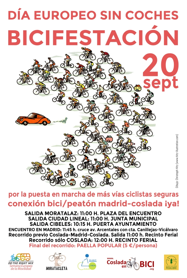 BICIFESTACIÓN. 20 sept. Conexión bici-peatón Madrid-Coslada Ya (1)