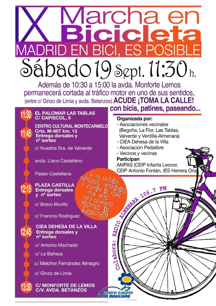 CARTEL Bicicletada Fuencarral_19 SEPT