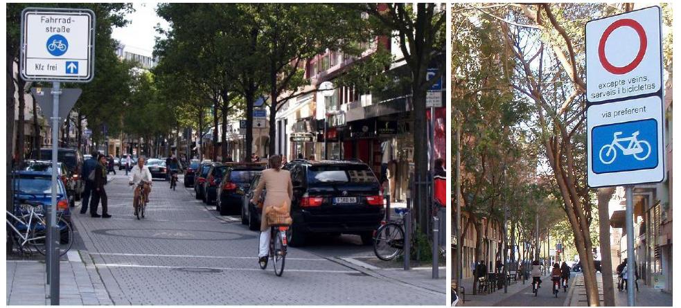 Ciclo-calle en Francfort