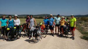 Grupo de cicloturistas