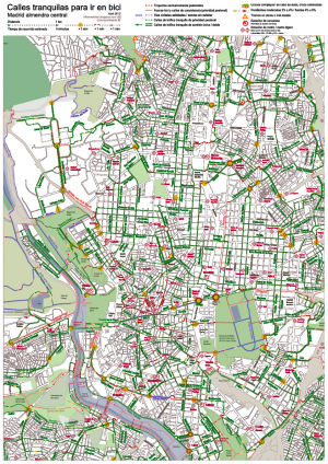 Mapa de calles tranquilas