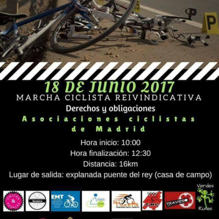 Marcha ciclista reivindicativa del 18 de junio de 2017
