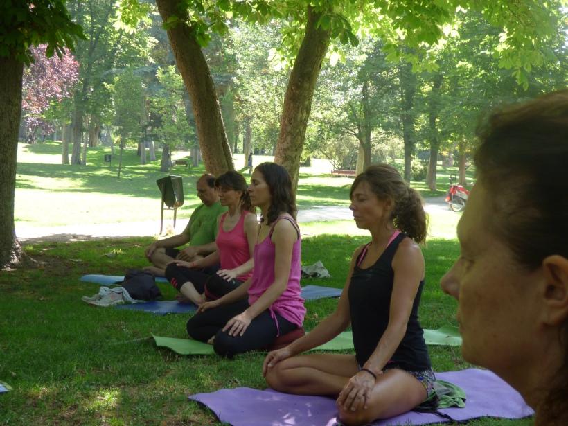 Bici y yoga