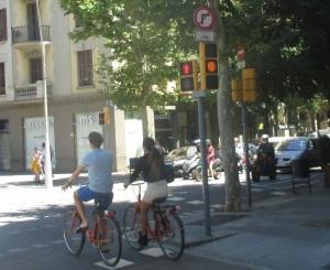 Pareja de ciclistas