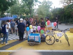 Bicicarri en el acto Baila Galileo