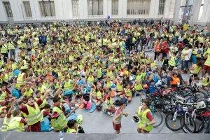 Estudiantes de la bicicletada STARS