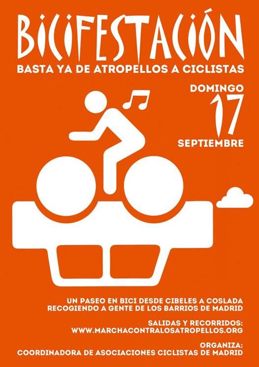 Domingo, 17 de septiembre: marcha ciclistaMadrid-Coslada