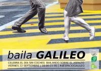 Cartel anunciador del acto Baila Galileo