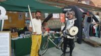 FestiBal - Don Quijote visita el puesto de Pedalibre