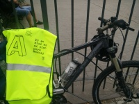 Chaleco: Ir en bici es mi plan para Madrid