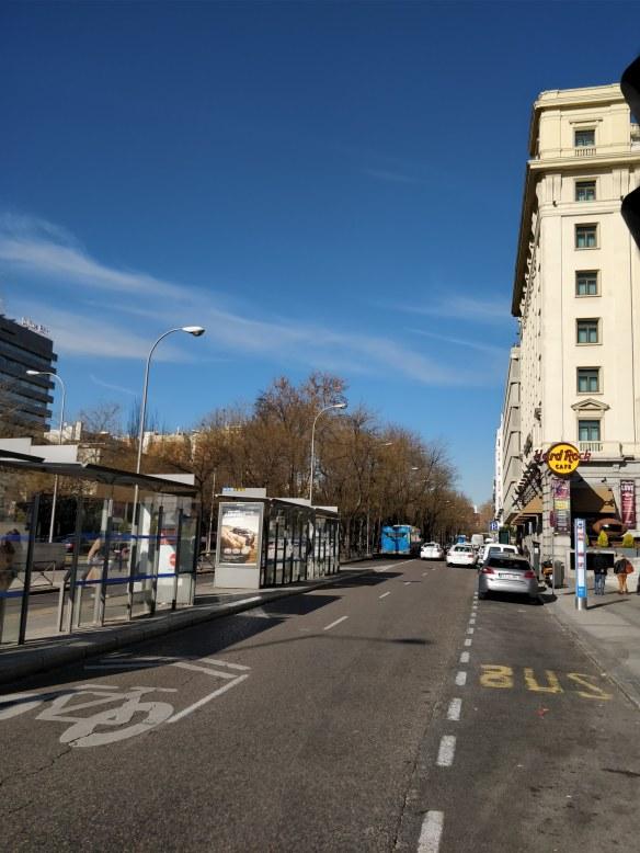 Foto de marquesina de autobuses