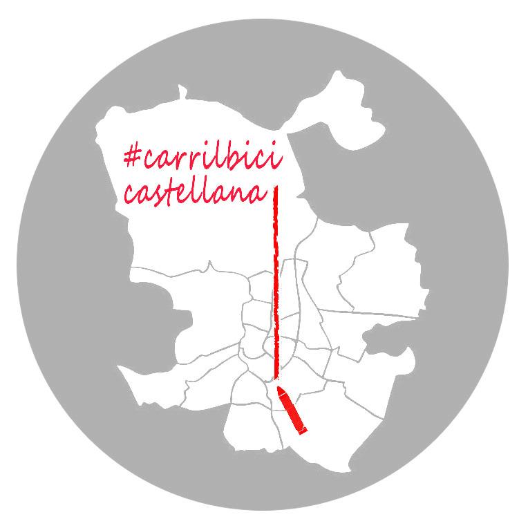 Logo con el recorrido del carril bici solicitado