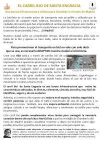 EL CARRIL BICI DE SANTA ENGRACIA Ficha para repartir- 2