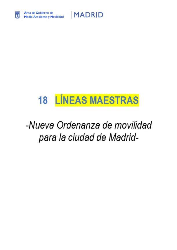 Líneas Maestras- Borrador ORDENANZA