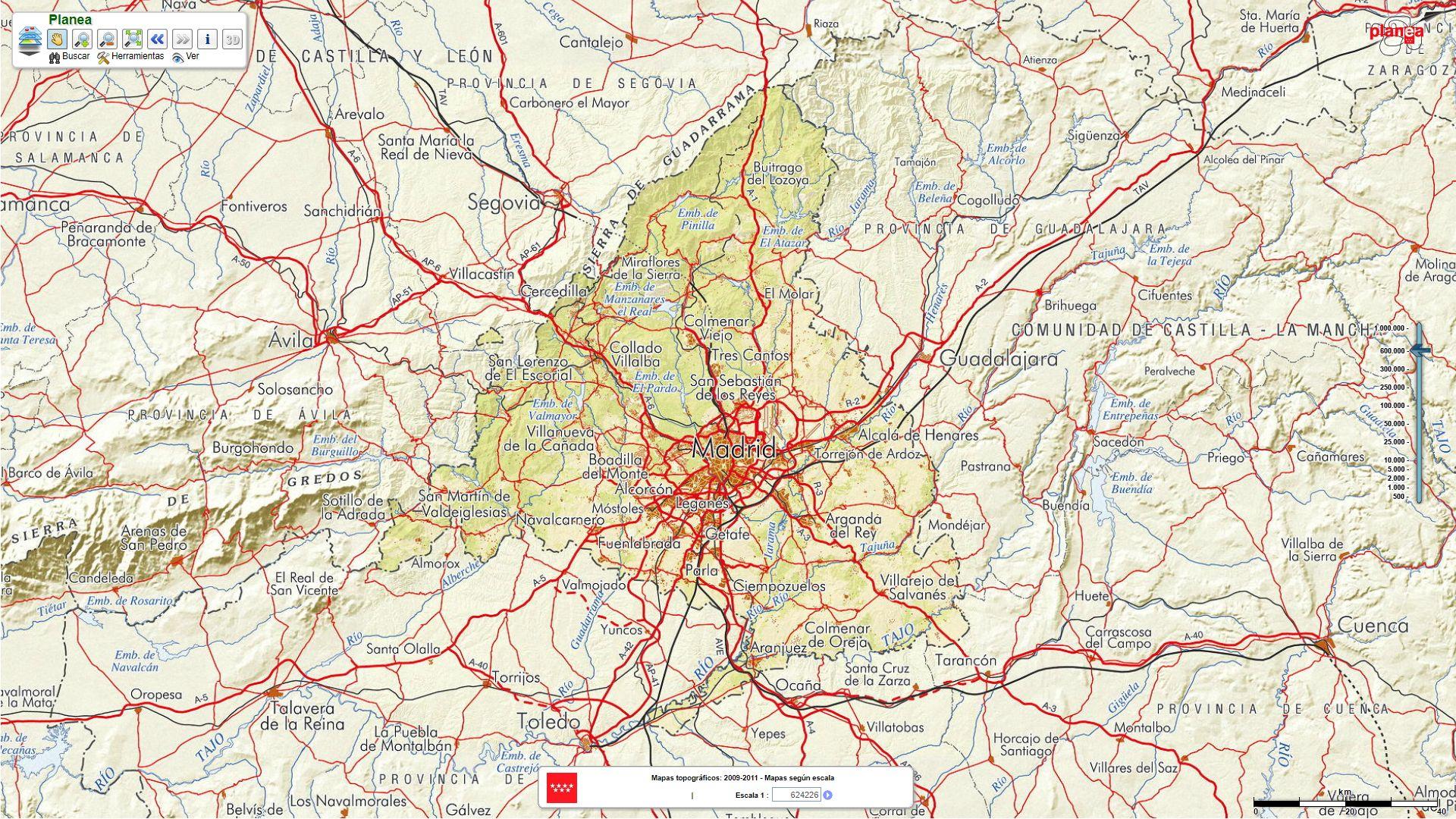 Cartografía Planea-Madrid