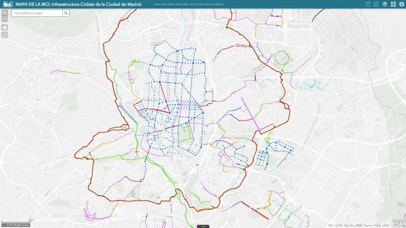 Mapa de la bici de Madrid