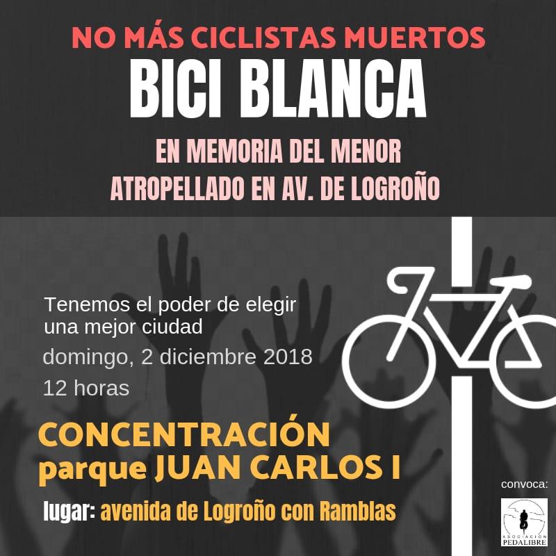 Bicicleta blanca – En memoria del menor atropellado en la Av. deLogroño