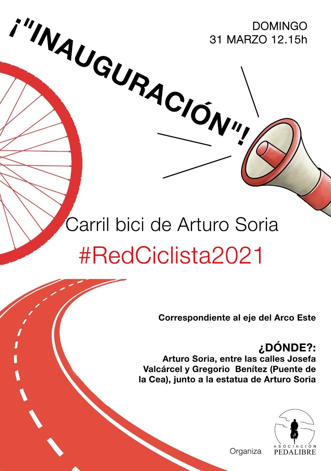 «Inauguración» del carril bici de ArturoSoria