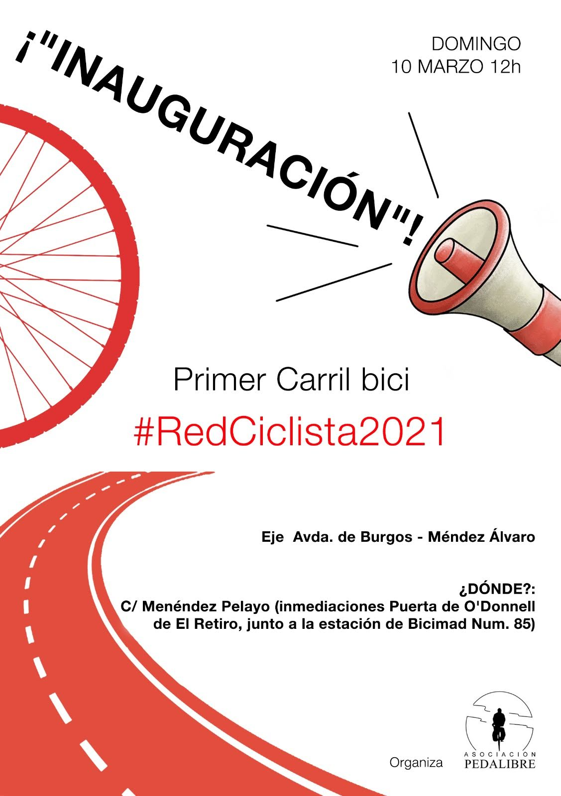 Inauguramos el primer carril bici de… #RedCiclista2021