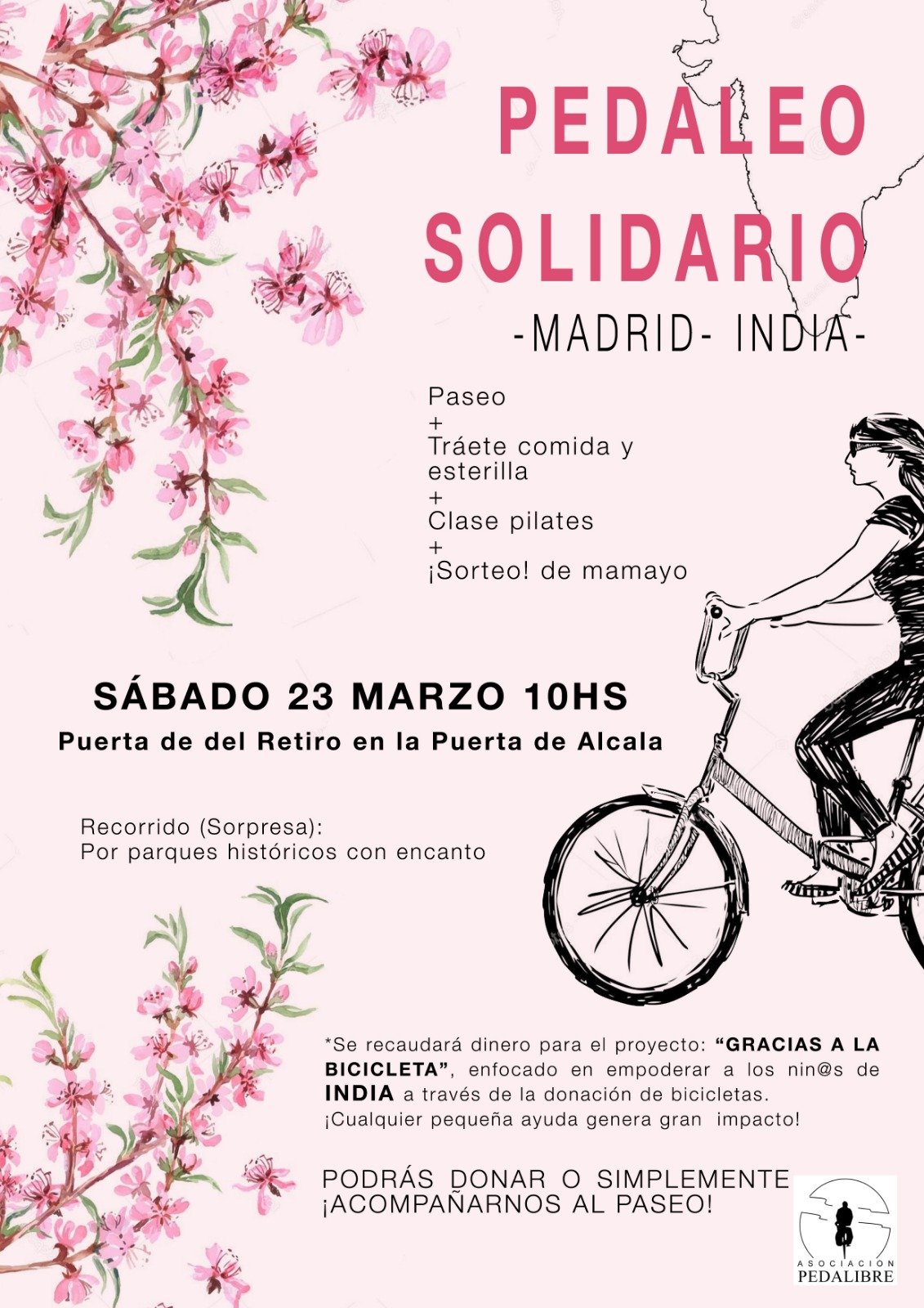 Pedaleo solidario Madrid – India