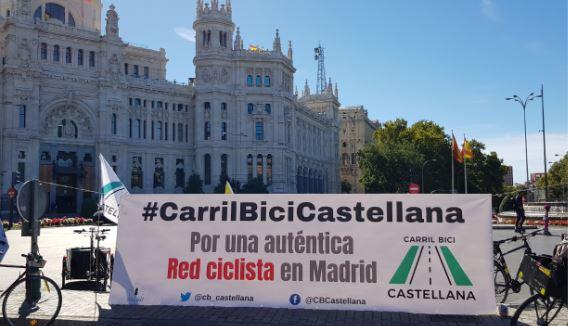 Propuesta ciudadana por un carril bici en todo el eje Norte-Sur de Madrid.