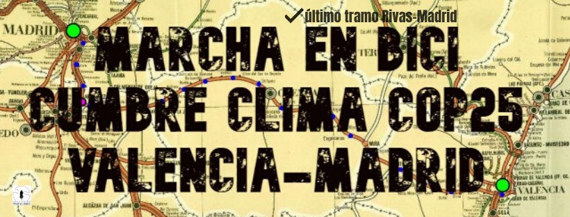 MARCHA EN BICI Valencia-Madrid: Último tramoRivas-Madrid