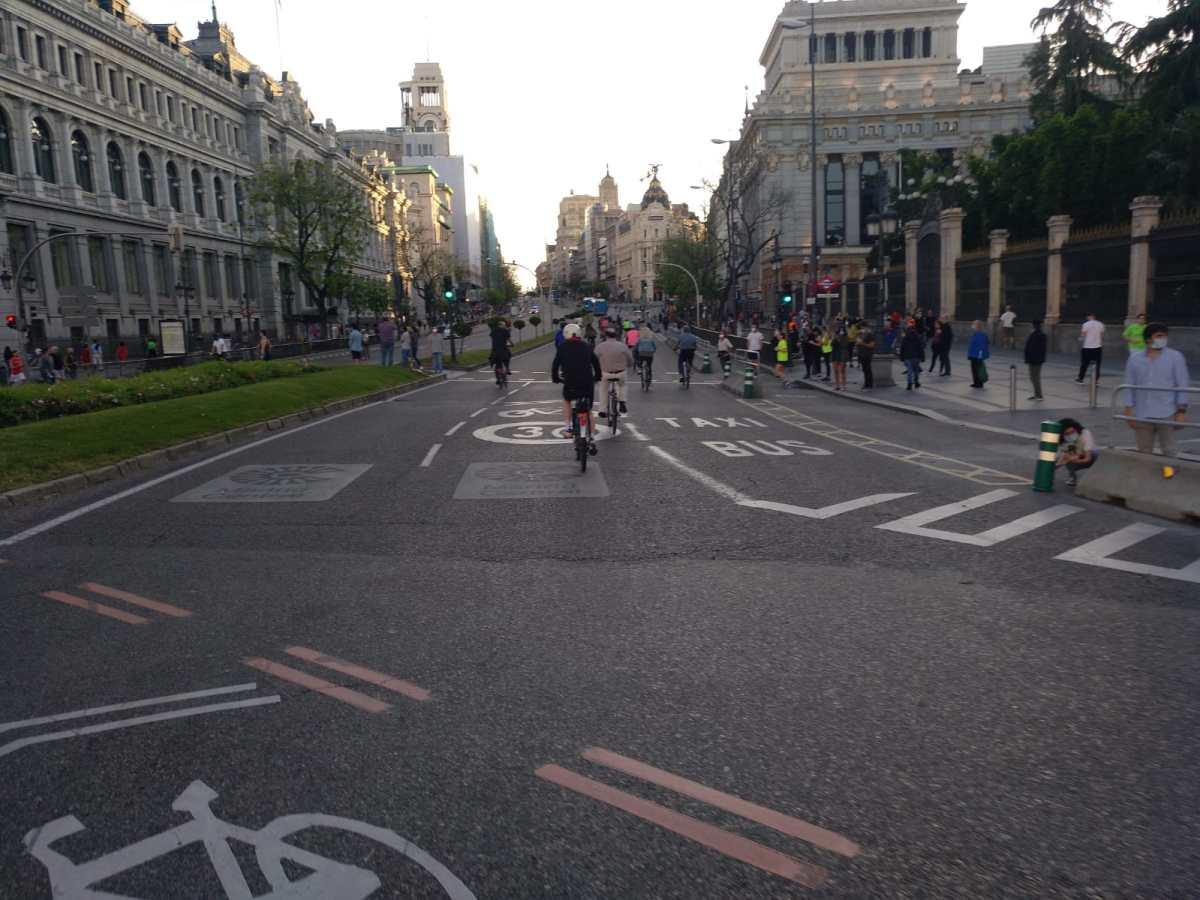 Posicionamiento de Pedalibre ante el anuncio del Ayuntamiento de Madrid de abrir 29 calles para peatones los fines desemana